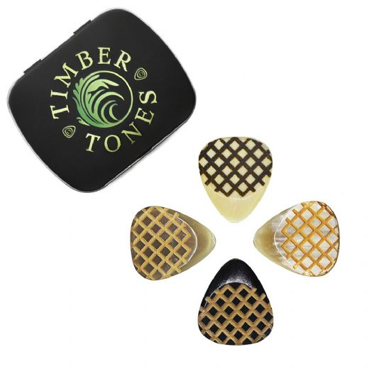 Grip Tones Mixed Tin of 4 Guitar Picks